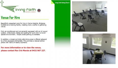 Training/Meeting Room Available for Rent